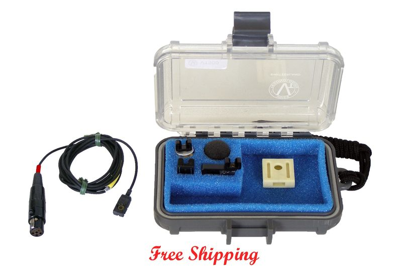 Voice-technologies-vt-500-lavalier-microphone-lectrosonics-servo-bias-new-ta5f-connector-black
