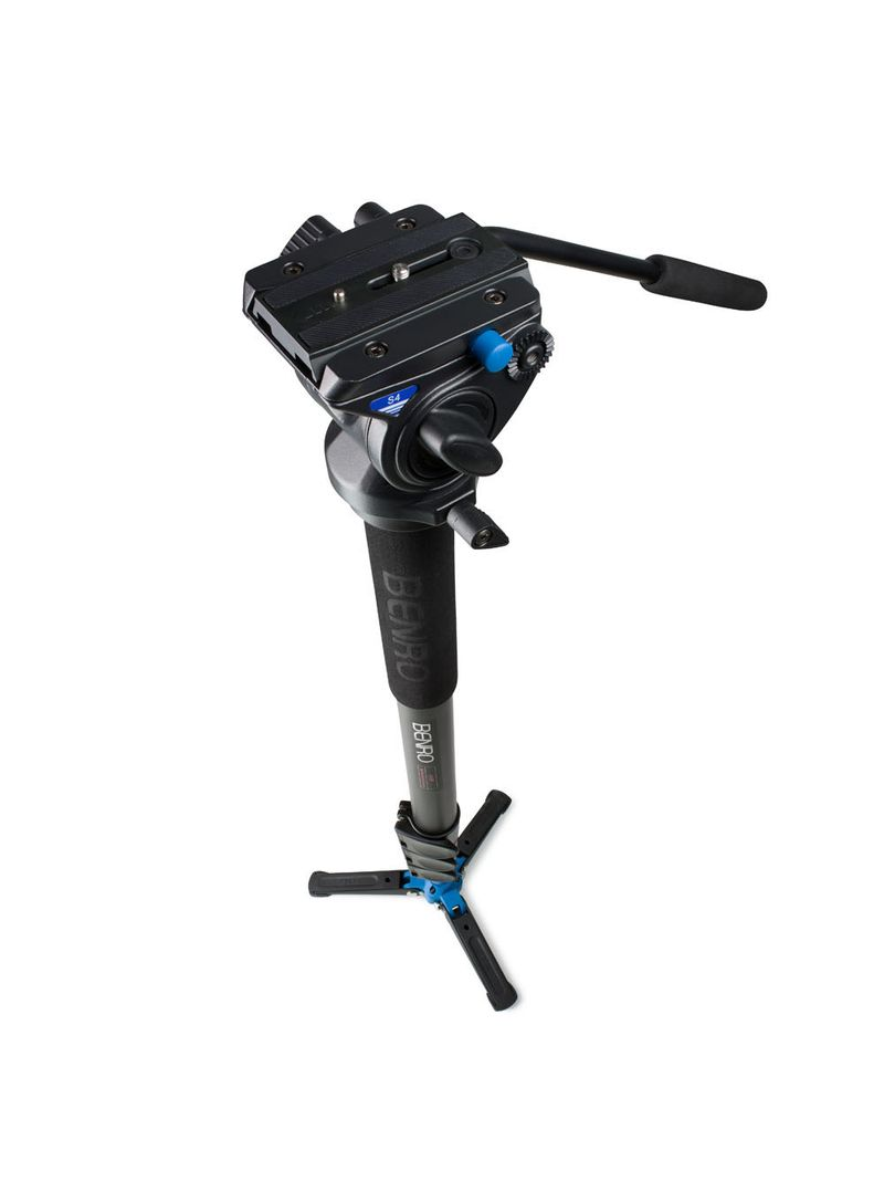 Benro-a48fbs4-video-monopod-with-flip-lock-legs-s4-head-and-3-leg-base-top