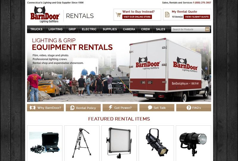 Barndoorlighting-rental-website